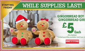 Build a bear gingerbread boy/ girl £5 in store Friday