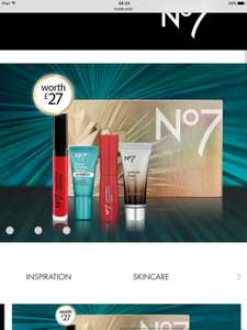 Free Gift Worth £27 when you buy 2 No7 Makeup Products at Boots