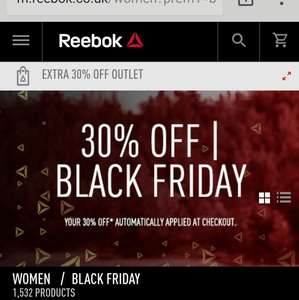 30% off on Reebok shoes on Black Friday sale