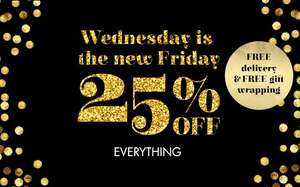 25% off Everything, there is also 50% off Selected lingerie and Nightwear @ Boux Avenue and Free delivery & Free Gift Wrapping Black Friday deals .