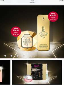 Save 40% on Paco Rabanne Lady Million and One Million £34.50 at Boots