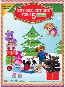 Black thurs/fri Build a bear buy one get one for £5 instore / online