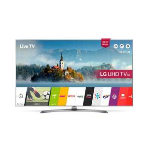 LG 55UJ750V - 55inch 4K UltraHD HDR Smart LED TV in Silver just £589 with code Co-op Electrical