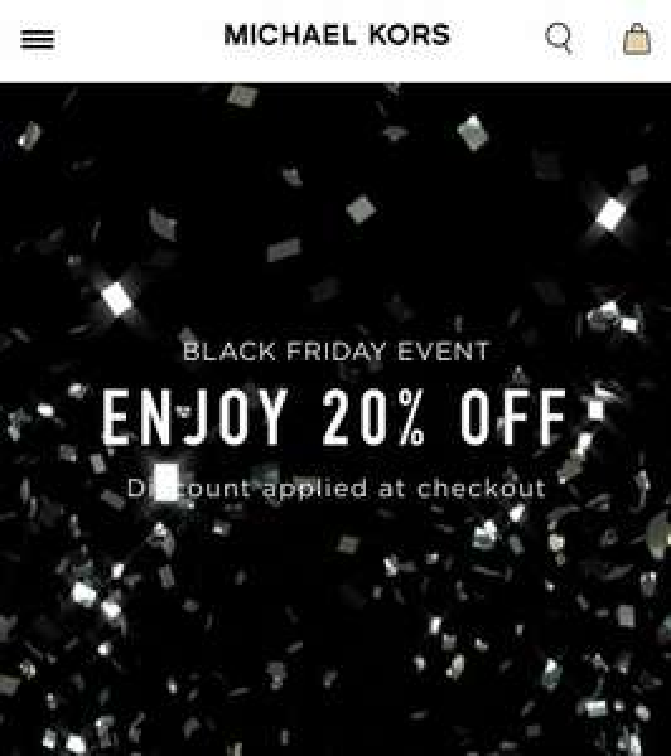 20% off Michael Kors - Black Friday event