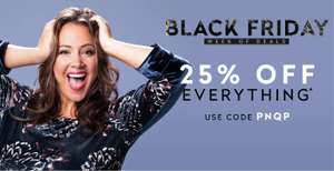 25% off everything at Curvissa excludes sale items