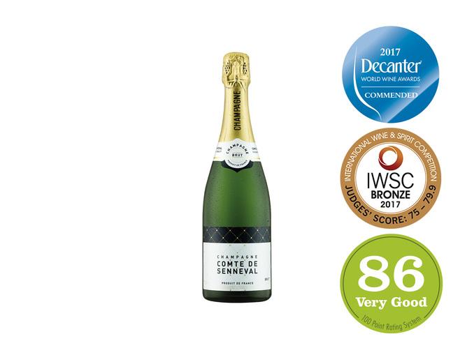 Comte de Senneval Champagne Brut 75cl, AOP Reduced to £8.99 from £10.99 Thu 23 Nov @ Lidl