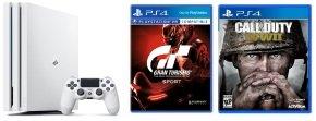 Sony 1TB PS4 PRO White with GT SPORT + COD WWII £299.98 Ebuyer