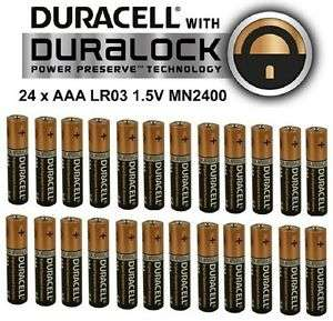 Duracell AAA batteries 24 Pack £8.19 @ ebay  rscommunications