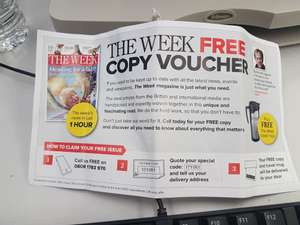 Free copy of The Week and a travel mug (Phone call required)
