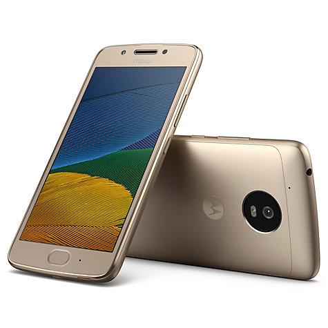 Motorola Moto G5 16GB/2GB Ram Gold. Sim Free Now £129.95 @ John Lewis