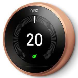 Nest Learning Thermostat, 3rd Generation, Copper @ John Lewis - £169