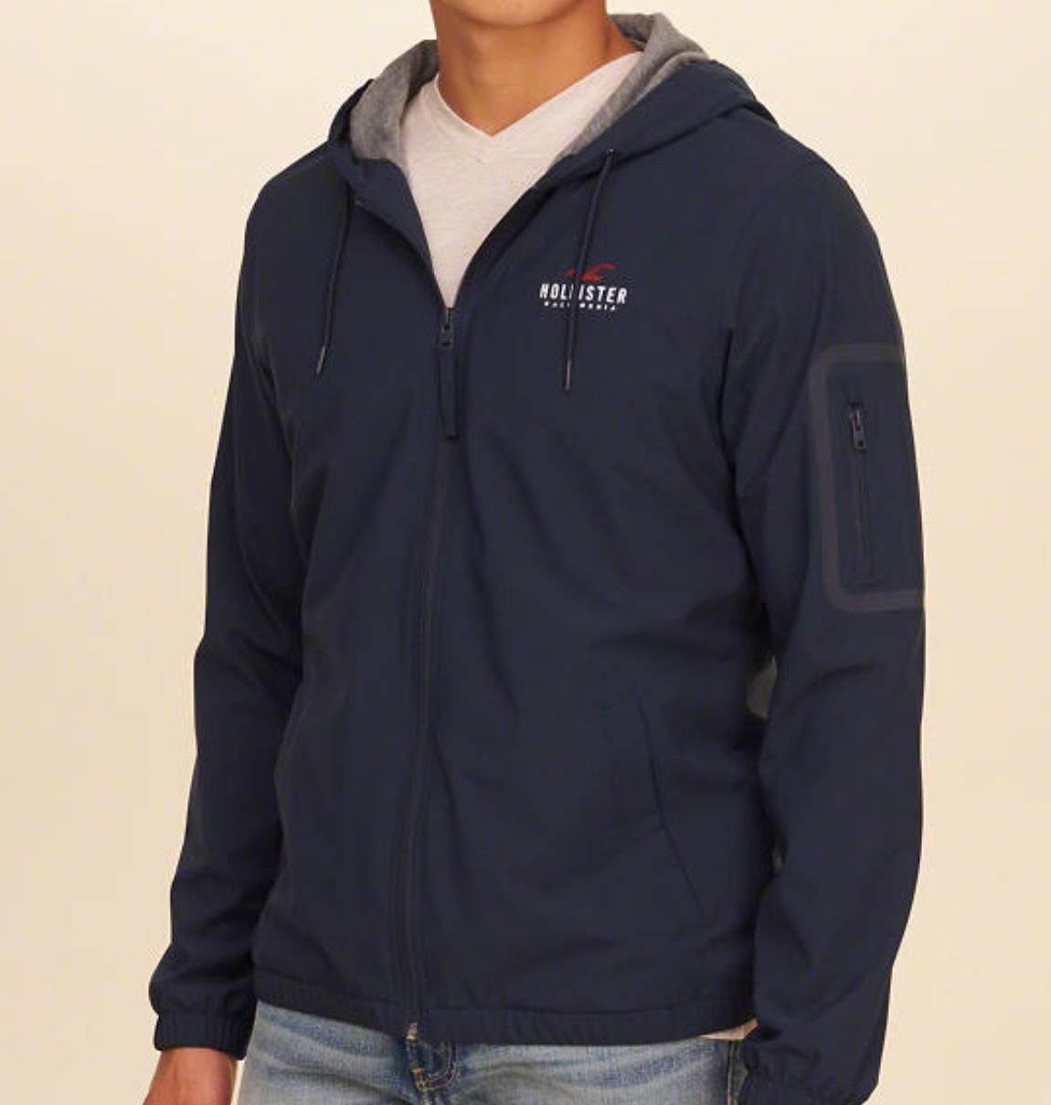 Hollister Jersey-Lined Windbreaker - £34.99 (C&C) @ Hollister