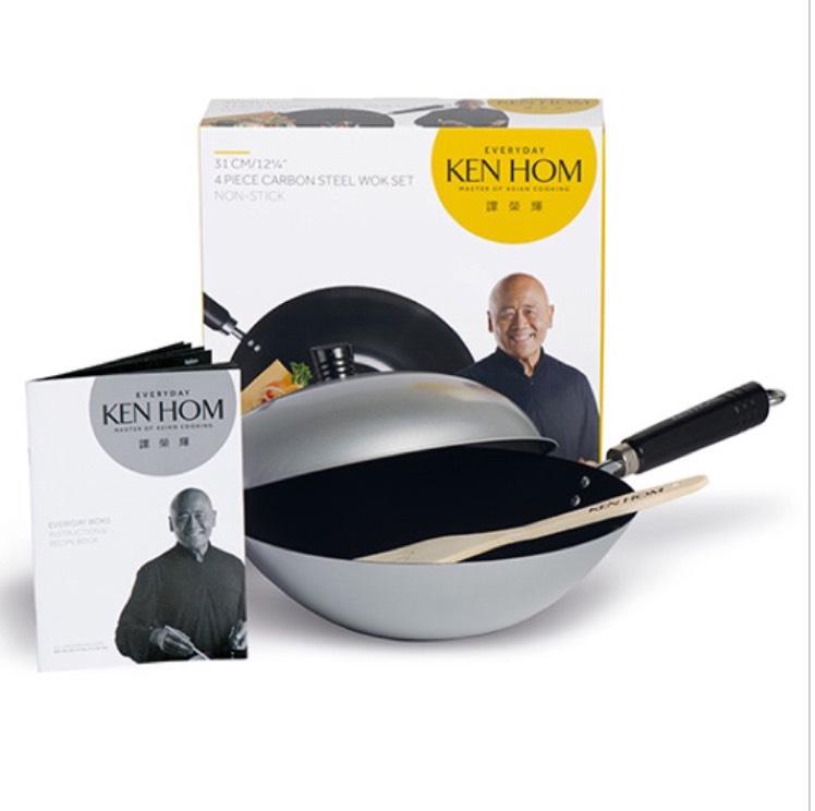 Ken hom 4 piece carbon steel wok £11.67 delivered @ Harts of Stur