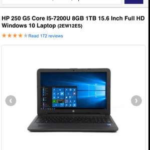 "HP 250 G5 i5-7200U 8GB 1TB HDD 15.6"" Full HD - £449.97 @ Laptops Direct"