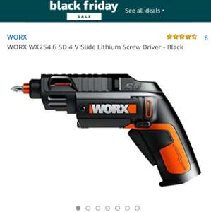 WORX WX254.6 SD 4 V Slide Lithium d Driver - Black - £29.98 / £34.97 delivered @ Amazon / holywell tools