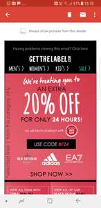Get the label giving extra 20% off