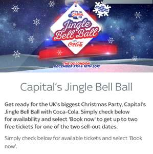 Free capital jingle bell ball tickets with sky vip membership.