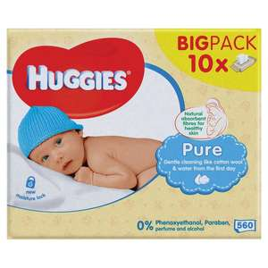 Huggies 10 pack baby wipes for £5 @ Morrisons