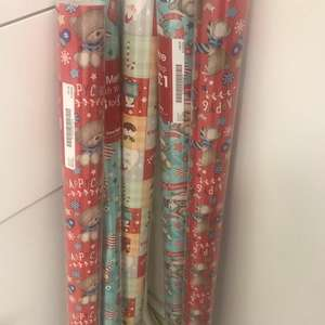 5 x wrapping paper £1 @ Card factory