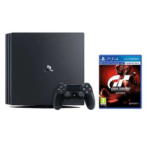 Sony PlayStation 4 Pro Console, 1TB, with DUALSHOCK 4 Controller, Jet Black and Gran Turismo Sport *2 Year Guarantee Included* £282.95 @ John lewis