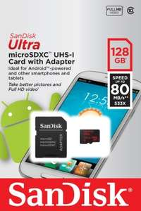 SanDisk Ultra Micro 128GB SDXC Card 80mbps (Class 10) £29.99 - Picstop (Free Delivery) (BACK AGAIN)