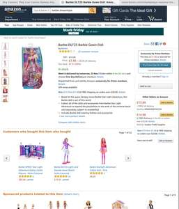 Barbie barbie gown doll £7.48 prime exclusive @ Amazon