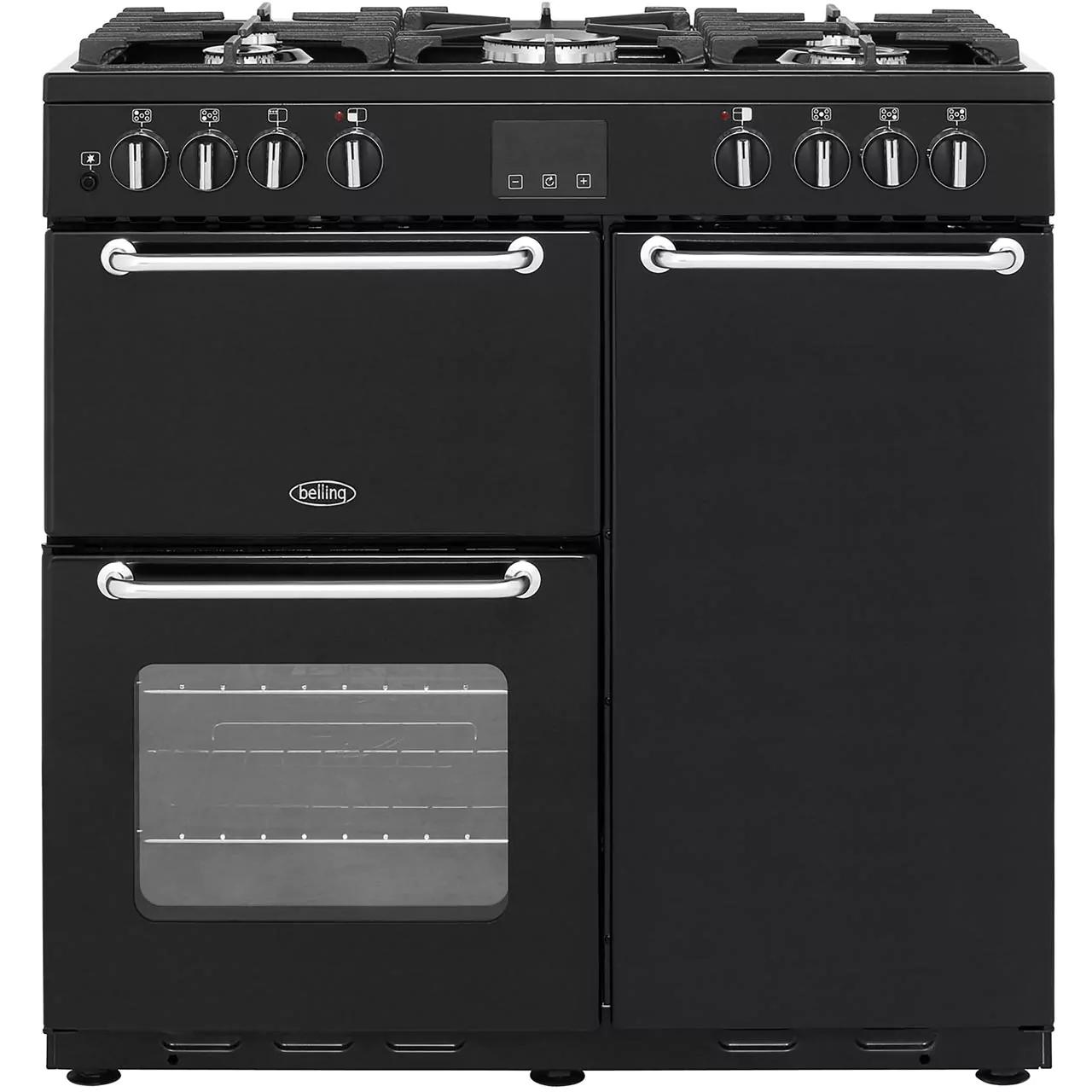 Belling SANDRINGHAM90DFT 90cm Dual Fuel Range Cooker - Black/Cream/Silver £629.10 delivered @ AO