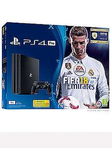 Game - PS4 Pro Fifa 18 edition + COD WW2 + 2 months Now TV + Free  next day del + a bit of Quidco £299.99