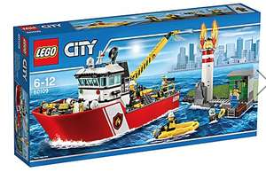 LEGO City Fire Boat 60109 £32.50 @ JD williams £3.50 del free over £40
