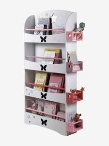Storage Bookshelf Library - Butterfly Theme was £57 & now £37.05 Del w/code @ Vertbaudet  (30% Off Everything + Free Del w/code)
