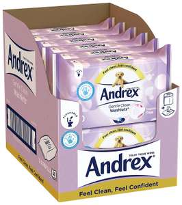 Andrex Washlets Flushable Toilet Tissue Wipes, Gentle Clean - 12 Pack (Total 480 Wipes) £9.48 with Prime or £9.01 with s&s Amazon (+£4.75 P&P non-Prime)