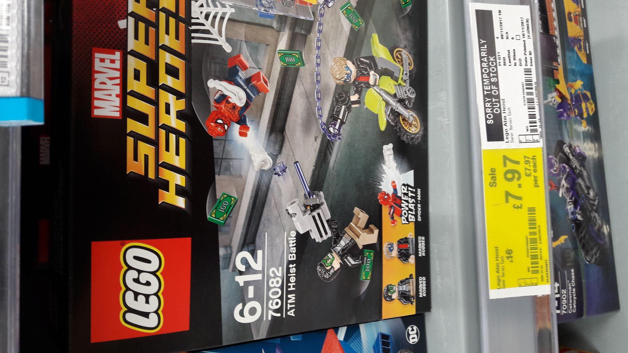 LEGO Spider-man ATM Heist 76082 £7.97 in ASDA