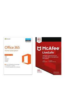 Microsoft Office 365 Home + McAfee Livesafe £49.99 @ Very