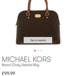MK Brown Cindy Satchel Bag £99.99 @ TKmaxx