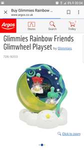 Glimmies rainbow friends glimwheel at Argos for £12.49