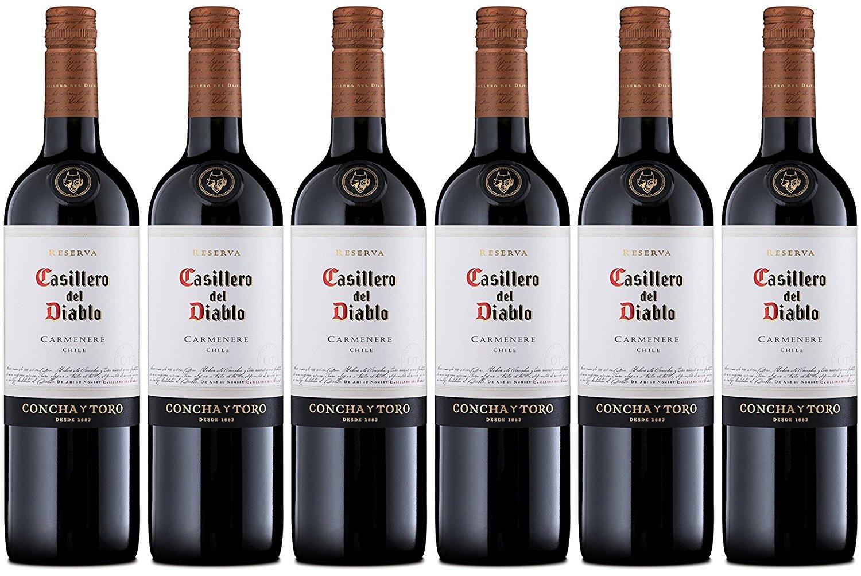 Casillero del Diablo Reserva Carmenere or Cabernet or Merlot, etc. - 6 Bottles - £28.99 Amazon Deal Of The Day