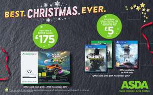 Xbox One S + Rocket League £175 at Asda from 24th