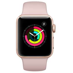 Apple Watch 3 - 38mm (GPS) + 2 year Warranty at John Lewis for £299.99