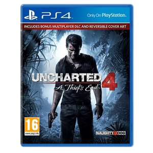 Uncharted 4 (PS4) £14 @ Tesco Groceries (This price instore where stocked or £40 min spend for C&C/delivery)