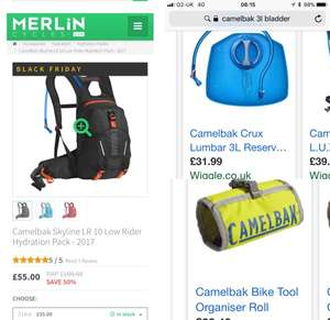 Camelbak skyline lowrider (lower back position) now £55 @ merlin Cycles (half price) Black Friday