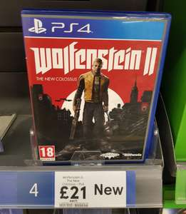 Wolfenstein II: The New Colossus - £21 Instore at Tesco (PS4 & Xbox One)