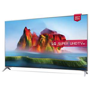 "LG 49SJ800V LED HDR Super UHD 4K Ultra HD Smart TV, 49"" with Freeview Play, Ultra Slim Design & Harman / Kardon Sound, Silver £599 @ john lewis"