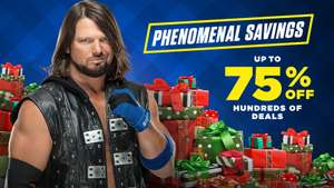 Wwe shop up to 75% off plus extra 25% code Friday