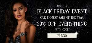 30% off watches, bracelets, bangles, necklaces, rings at Abbott Lyon - Black Friday