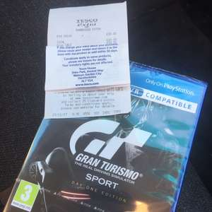 Ps4 GT Sport Day One Edition £20 Tesco instore