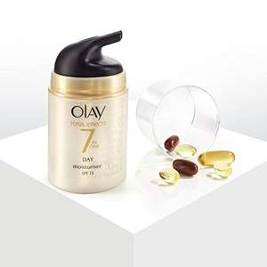 Olay Total Effects Anti-Ageing 7-in-1 Day CreamSPF15 Moisturiser, 50ml £6 (Prime) / £9.99 (non Prime) at Amazon