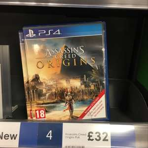 Assassins creed origins PS4 and Xbox one - £32 @ Tesco instore