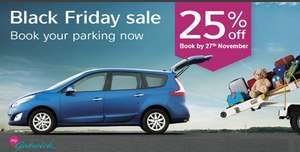 Black Friday 25% off Gatwick Parking -