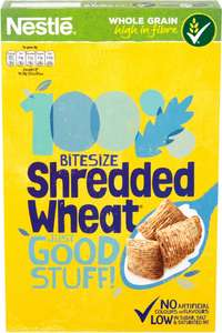 Nestle Shredded Wheat Bitesize Cereal (500g) was £2.66 now £1.25 @ Morrisons