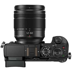 "Panasonic LUMIX DMC-GX8 Compact System Camera With 12-60mm Lens, 5x Optical Zoom, 4K Ultra HD, 20.3MP, Wi-Fi, NFC, OLED EVF, 3"" Touch Screen, Black £449 - John Lewis"